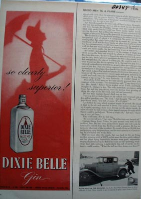 Dixie Belle Gin Clearly Superior Ad 1956