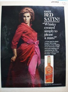 Red Satin Whiskey Pleases A Man Ad 1965