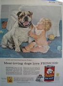 Friskies a little mans best friend deserves Friskies Ad 1956