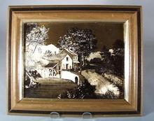 Currier & Ives Foil Framed Print.