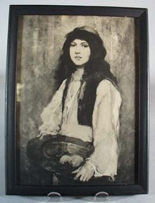 Victorian girl Print, Gypsy in appearance