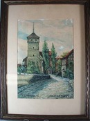 1926 water color of Nurnberg.