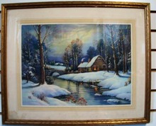 Snow covered Print by Thomson.