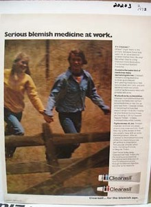 Clearasil Medicine at Work Ad 1972.