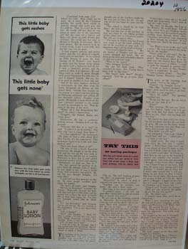 Johnson Baby Lotion This Little Baby Ad 1956