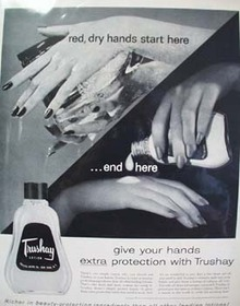 Trushay Hand Lotion Ends Here Ad 1956