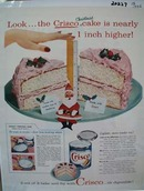 Crisco Cake is Higher Ad 1956