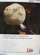 Sealtest Butter Pecan Ice Cream Nutty Enough Ad 1966