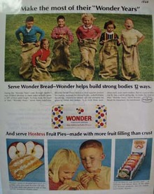 Wonder Bread Children Sack Race Ad 1966