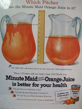 Minute Maid Which Pitcher Ad 1955