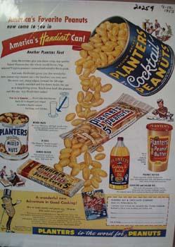 Planters Peanuts Americas Favorite Ad 1955