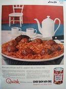 Chef BoyArDee Spaghetti Like Italian Chef Ad 1955