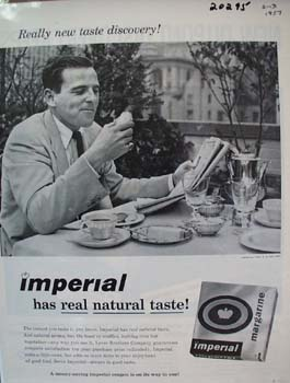 Imperial Margarine Natural Taste Ad 1957