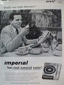 Imperial Margarine Natural Taste Ad 1957