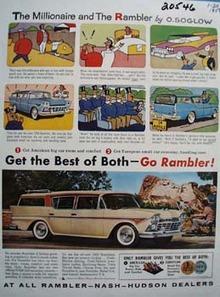 American Motors Rambler and Millionaire Ad 1958