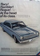 American Motors Racy Rambler Ad 1966