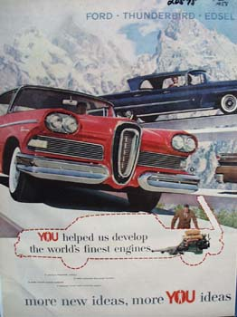 Edsel More You Ideas Ad 1958