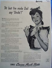 Cannon Percale Sheets Made Dad Say Uncle Ad 1943.