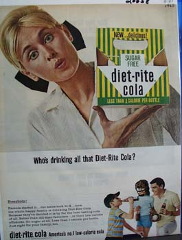 Diet Rite Cola Whos Drinking Ad 1965