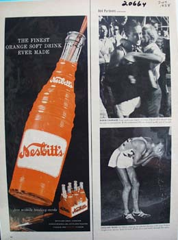 Nesbitts Orange Finest Ever Made Ad 1958