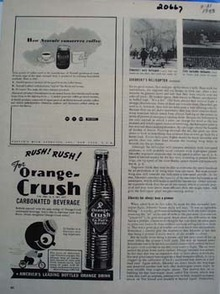 Orange Crush Rush Rush Ad 1943