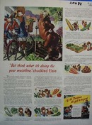 Bordens Elsie The Cow Waistline Ad 1943