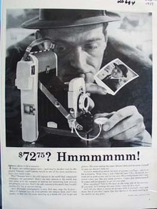 Polaroid Land Camera  72.75 Ad 1959