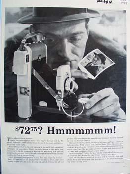 Polaroid Land Camera  72.75 Ad 1959