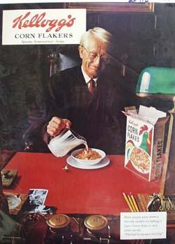 Kelloggs Corn Flakes and Judge Ad 1965