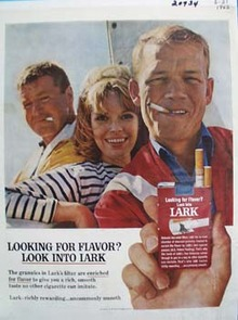 Lark Cigarettes Looking for Flavor Ad 1965
