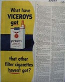 Viceroy Cigarettes What Have Viceroys Got Ad 1945