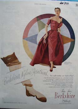 Berkshire Stockings Glorious New Look Ad 1949