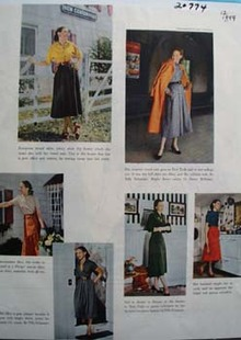 Models in Designer Clothes Ad 1949