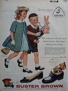 Buster Brown Shoes Easter Ad 1958
