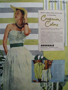 Avondale Companion Colors Ad 1949
