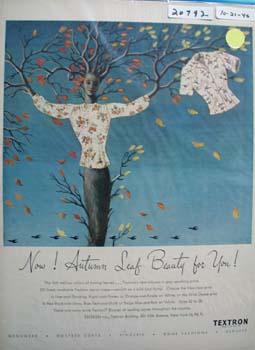 Textron Autumn Leaf Beauty For You Ad 1946