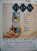 Helene Curtis Spray Net Ad 1958