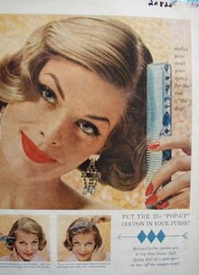Helene Curtis Makes Comb Your Spray Ad 1958