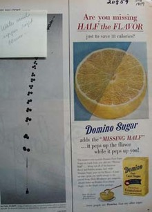 Domino Sugar Missing Half Ad 1959