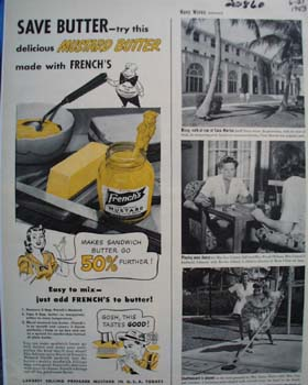 Frenchs Mustard Save Butter Ad 1943