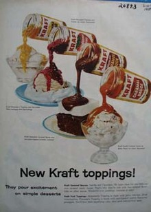 Kraft Toppings Pour Excitement Ad 1959