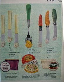 Kraft Cheese and Silverware Ad 1958