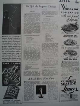 Mortons Salt When it Rains Ad 1930