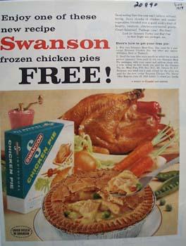 Swanson Chicken Pie Ad 1958