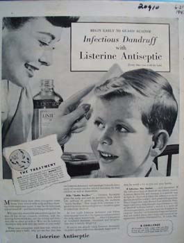 Listerine Antiseptic Begin Early Ad 1943