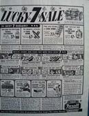 Rexall Lucky 7 Sale Ad 1945