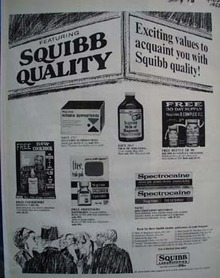 Squibb Laboratories Exciting Values Ad 1965