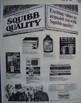 Squibb Laboratories Exciting Values Ad 1965