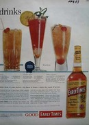Early Times Whiskey Championship Drinks Ad 1958.