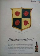 Four Roses Whiskey Proclamation Ad 1958